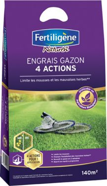Engrais gazon 4 actions medium140m² Box x18